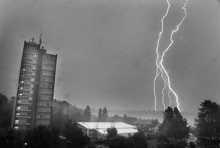 Blitze in Genf